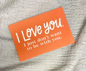 I Love You I Just Don't Want to be with You Postcard