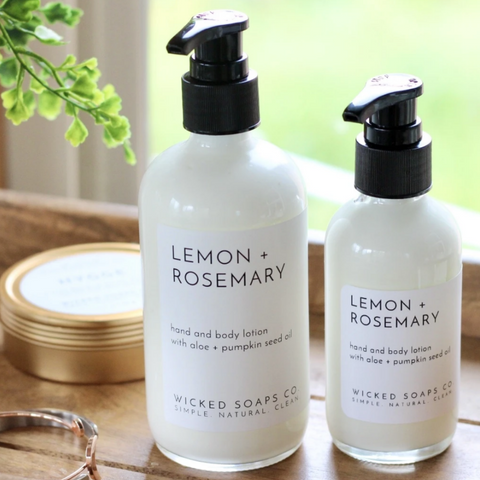 Lemon + Rosemary Lotion