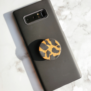 Leopard Clay Phone Grips