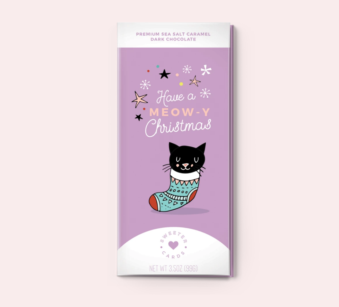 Have a Meow-y Christmas Chocolate Bar Card