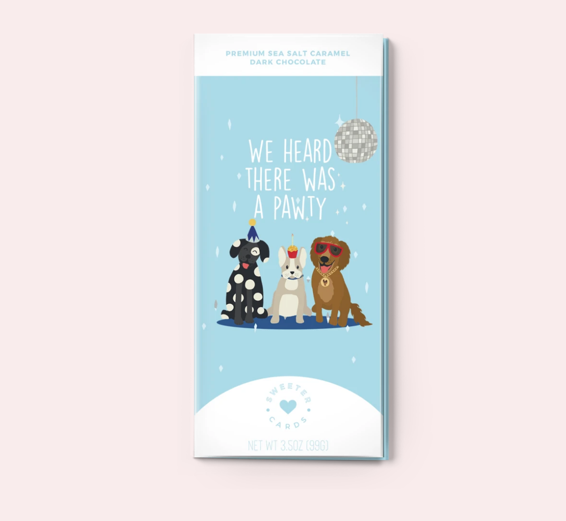 Pawty Chocolate Bar Card