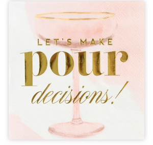 Pour Decisions Cocktail Napkins
