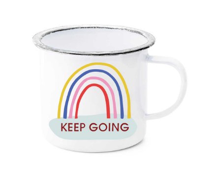 Keep Going Enamel Mug