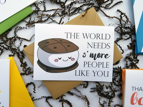 World Needs S'more People Like You Thank You Card