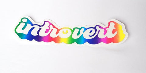 Introverted Rainbow Foiled Sticker