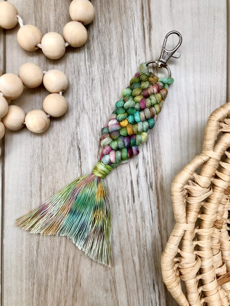 Mermaid Macrame Keychains