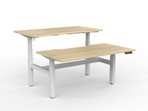 Agile+ Twin Motor 3C Double Sided Electric Height Adjustable Desk 160kg Tested Weight Capacity