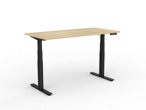 Agile+ Twin Motor 3C Single Sided Electric Height Adjustable Desk 160kg Tested Weight Capacity