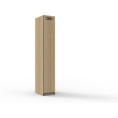 1 Door Melamine Locker - Oak