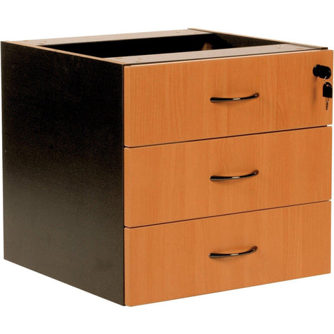 Logan Fixed Pedestal - 3 Drawer