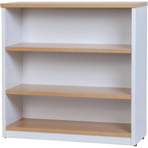 Logan Bookcase - 900mm Height - Oak/White