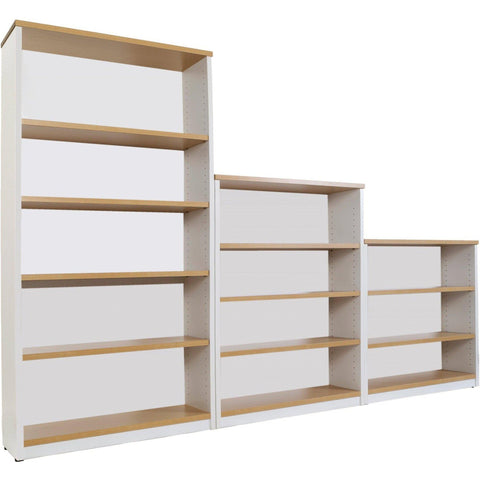 Logan Bookcase - 1800mm Height - Oak/White