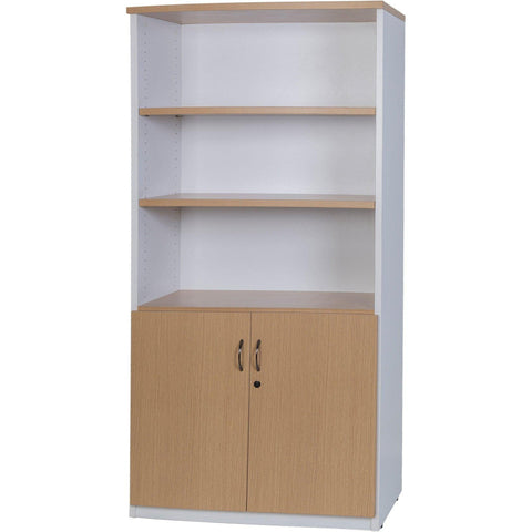 Logan Stationery Cupboard - Oak/White
