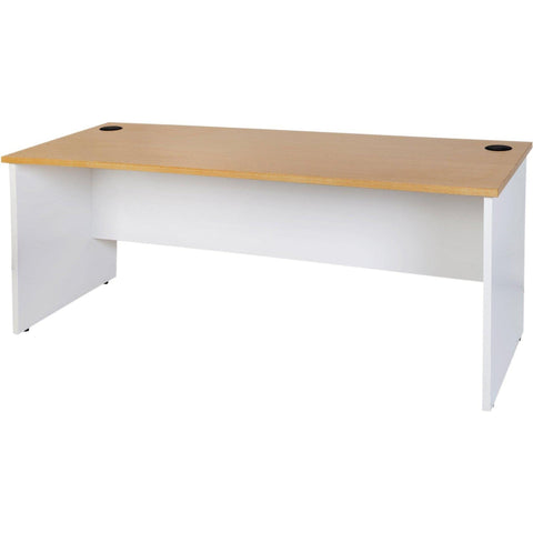 Logan Straight Desk - Oak/White