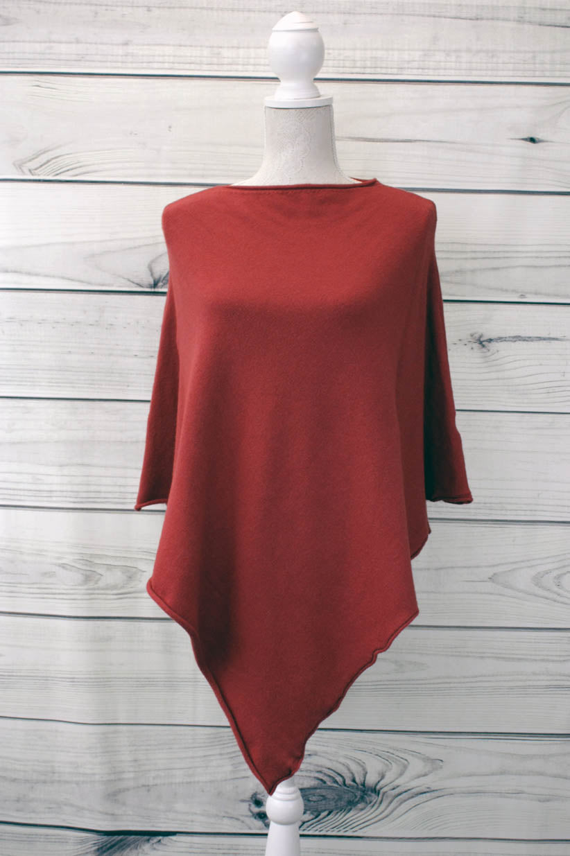 Plain Pointed Poncho - more colours available