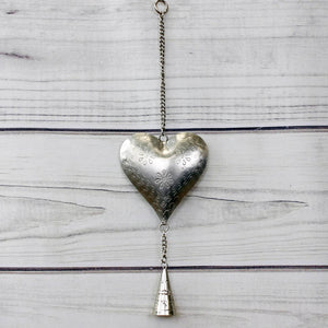 Small Hanging Heart with Bell