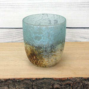Sea Green Silver Glass Votives - different sizes available