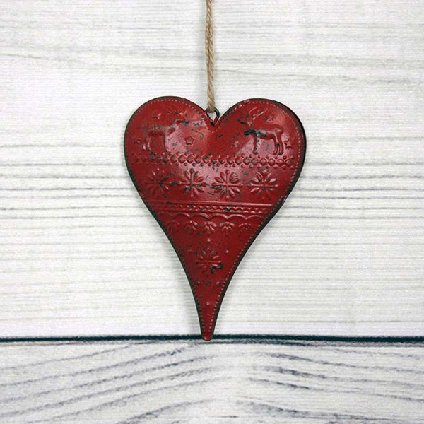 Metal Embossed Hearts