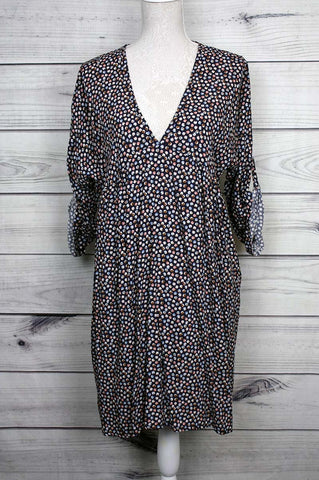 Printed V-neck Dress - more colours available