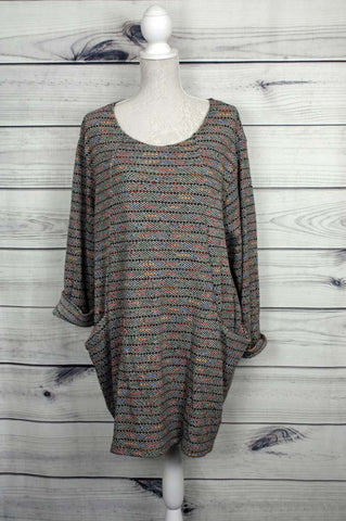 Rainbow Spotty Knitted Tunic & Scarf - more colours available