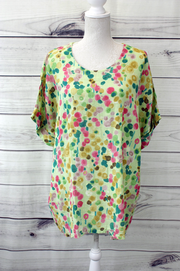 Poppy Floral Print Top - more colours available