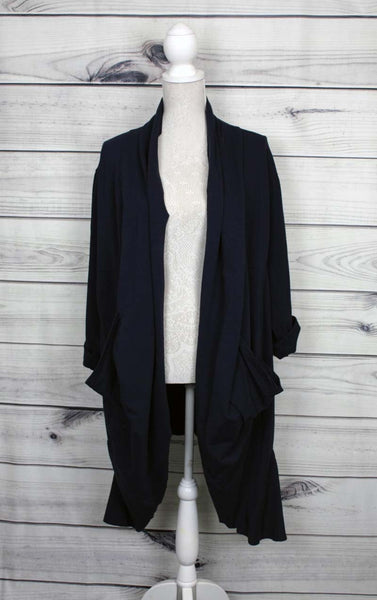 Italian Plain Waterfall Cardigan - more colours available