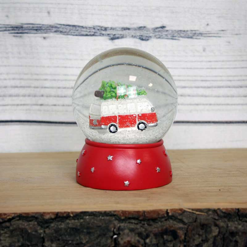 Christmas Campervan Snow Globe