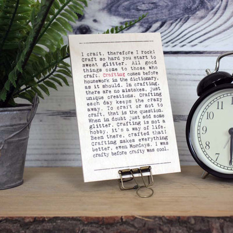 Crafting Wise Words Wooden Plaque with Hanger