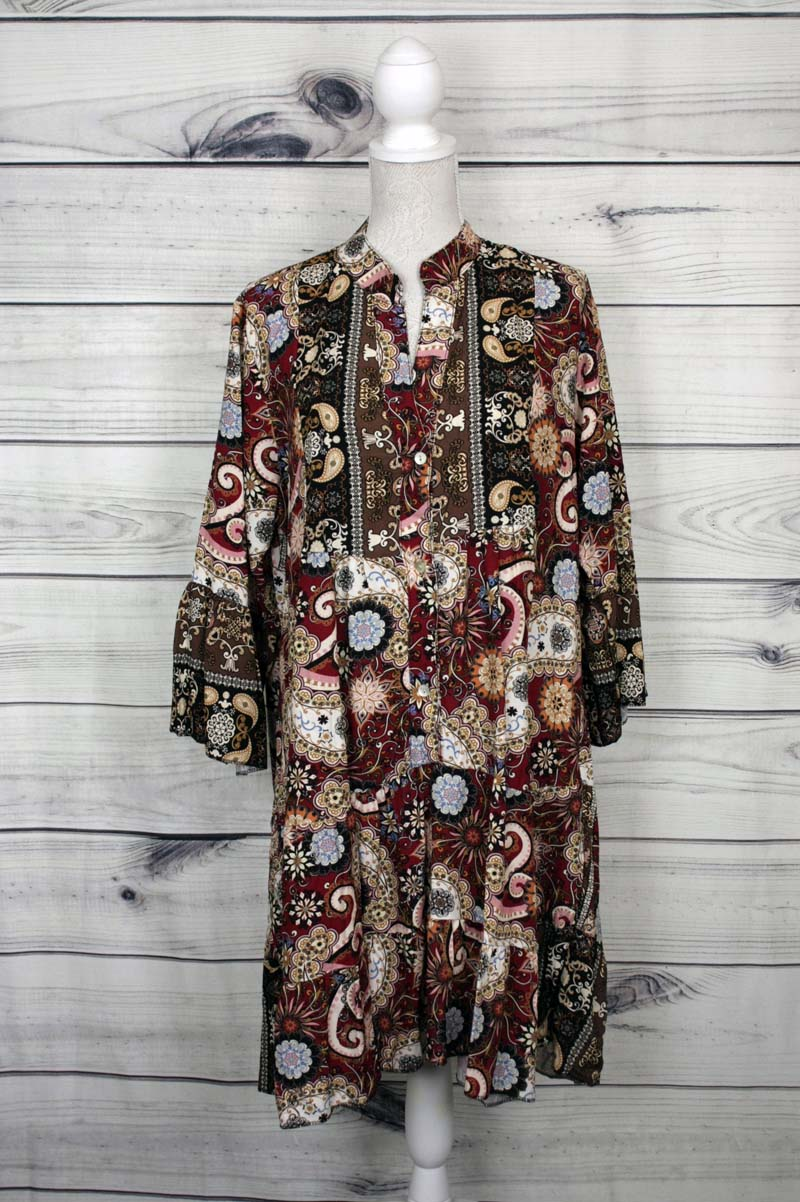 Italian Paisley Print Dress - more colours available