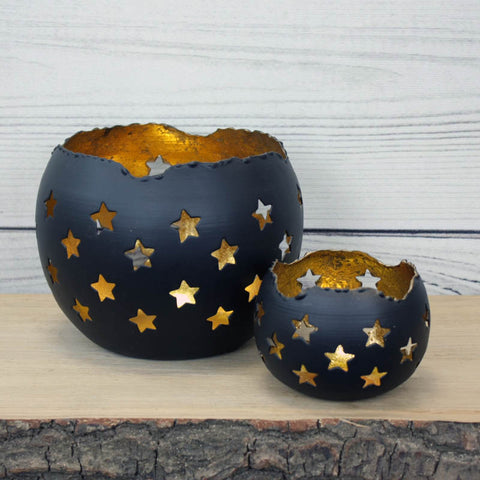 Gold Leaf Star Votives - two sizes available