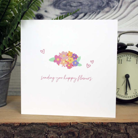 Happy Flowers Card