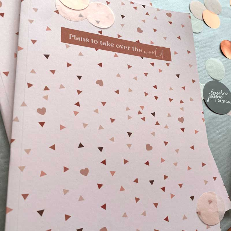 A5 Luxury Hearts Notebook