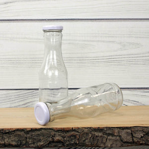 Old School Glass Juice Bottle with Lid