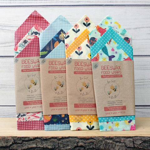 Bee Sweet & Bumble Beeswax Food Wraps - Lunch Pack