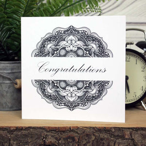 Mandala Card - Congratulations