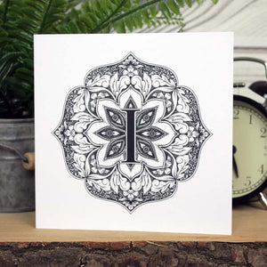 Mandala Monogram Card - I