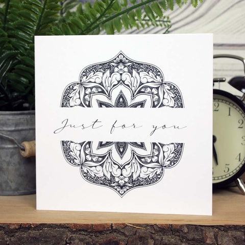 Mandala Card - Just For You