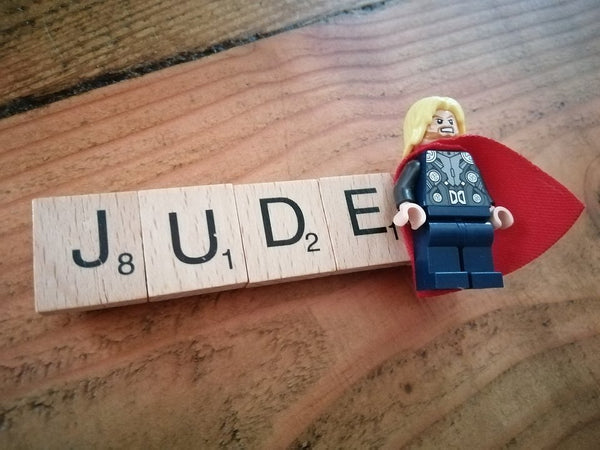 Lego & Scrabble Name Magnet - made-to-order item