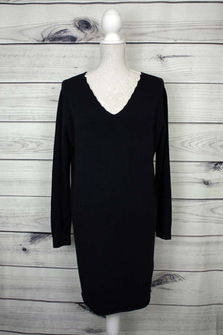 Plain Stretchy Fine-knit Dress - more colours available