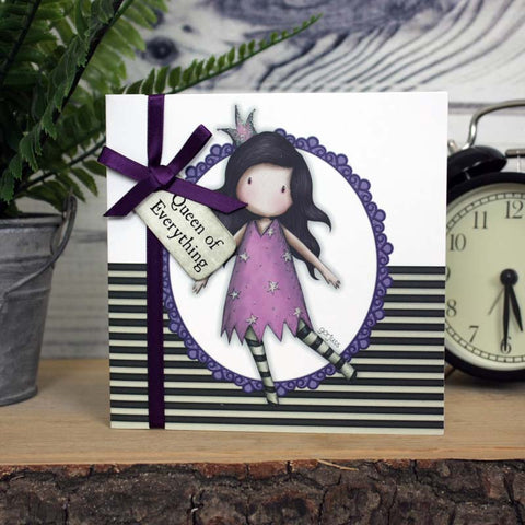 Gorjuss Greetings Card - Queen Of Everything