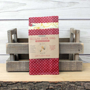 Bee Sweet & Bumble Beeswax Snack Bags - Pack of 3 (16x16cm)
