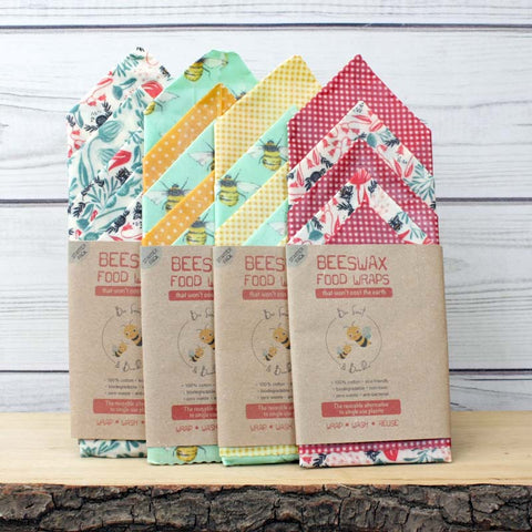 Bee Sweet & Bumble Beeswax Food Wraps - Starter Pack