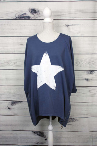 Italian Star Print Top - more colours available