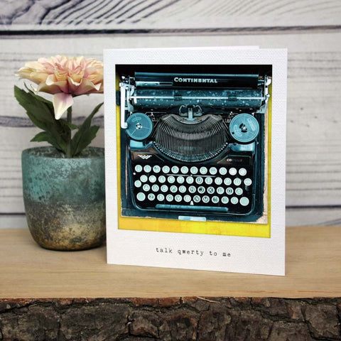 Incidental Instants Greeting Card - Talk Qwerty To Me