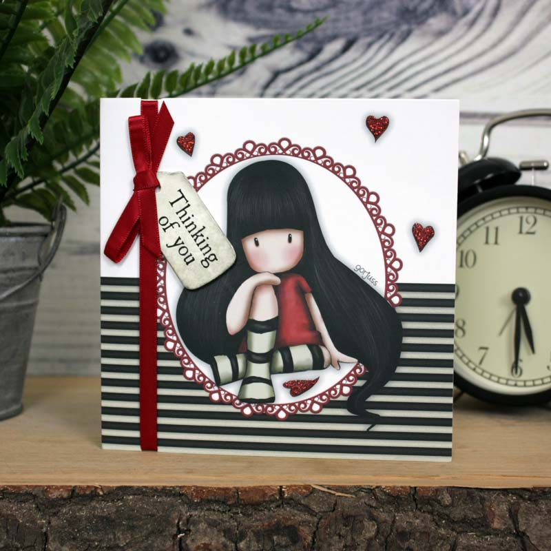 Gorjuss Greetings Card - Thinking Of You