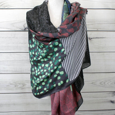 Multi-colour printed scarf - more colours available