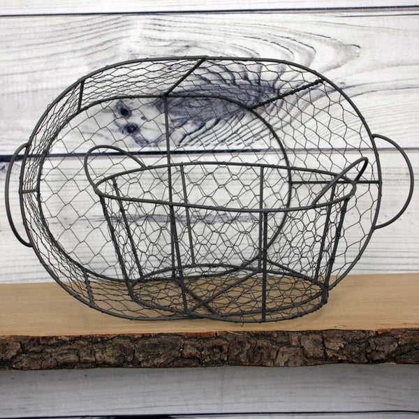 Wire Mesh Oval Basket