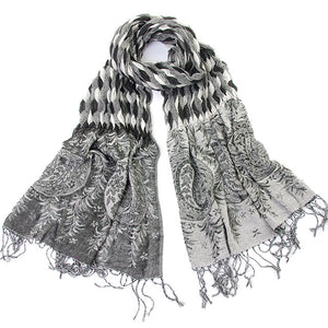 Wilma Tapestry-Inspired Black Scarf