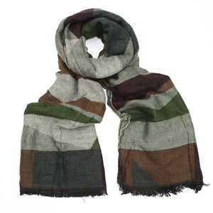 Jane Green Asymmetrical Blanket-style Scarf