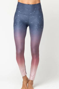 Cora Phase Legging, Blue/Burgundy